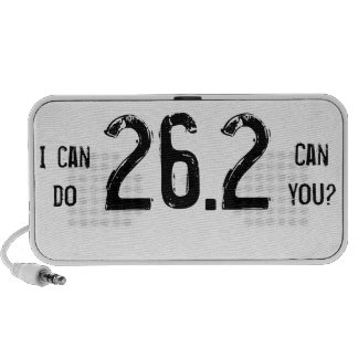 I can do 26.2 -- Can you? Mp3 Speakers