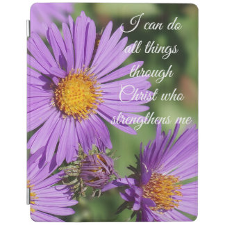 I Can Do All Things New England Aster iPad Cover