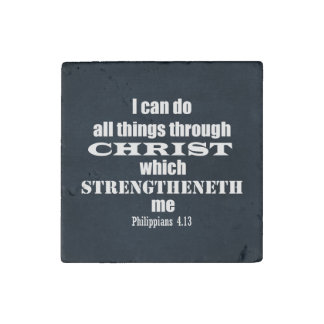 I can do all things Philippians Bible Verse Stone Magnet