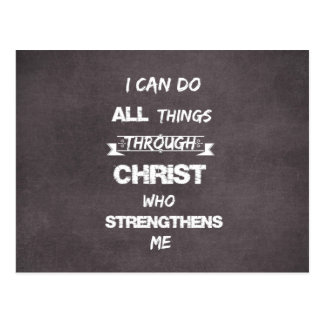 I Can do all things through Christ Bible Verse Postcard