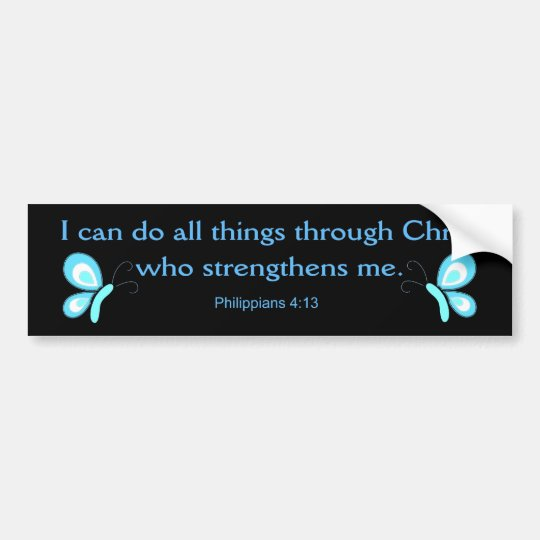 I can do all things through Christ Bumper