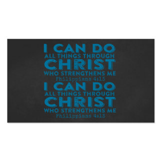 I Can Do All Things Through Christ Pack Of Standard Business Cards