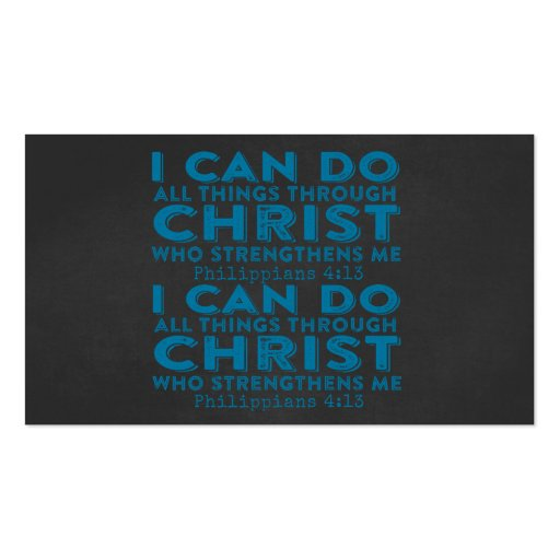 I Can Do All Things Through Christ Business Card Templates