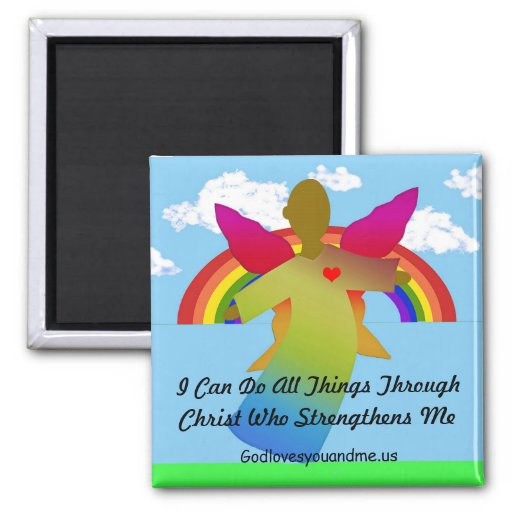 I Can Do All Things Through Christ Refrigerator Magnet
