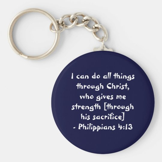 I can do all things through Christ,who gives