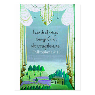 I can do all things through Christ who strengthens Postcard