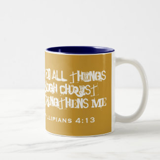 I CAN DO ALL THINGS Two-Tone COFFEE MUG