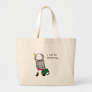 I can do anything canvas bags