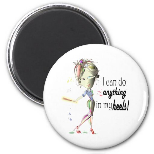I can do Baseball in my Stiletto's! Fun Digital Ar Refrigerator Magnet