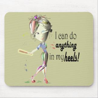 I can do Baseball in my Stiletto's! Fun Digital Ar Mousepad