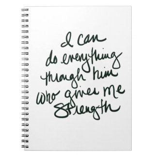 I can do everything - Inspirational Notebook
