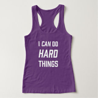 I can do hard things runner tank top *Customisable