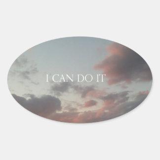 I can do it oval sticker