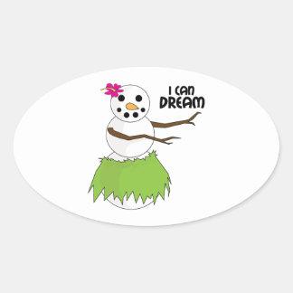 I Can Dream Oval Sticker
