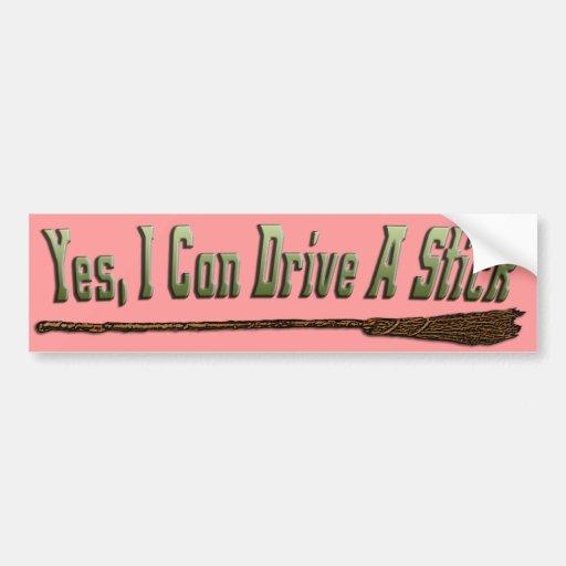 I Can Drive A Stick 2 Bumper Sticker