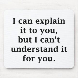 I Can Explain It To You Mouse Mat