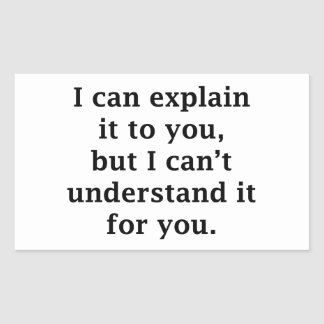 I Can Explain It To You Rectangular Sticker