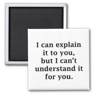 I Can Explain It To You Square Magnet