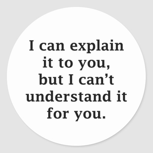 I Can Explain It To You Round Sticker