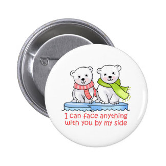 I CAN FACE ANYTHING PINBACK BUTTON