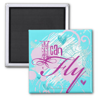 I Can Fly Square Magnet