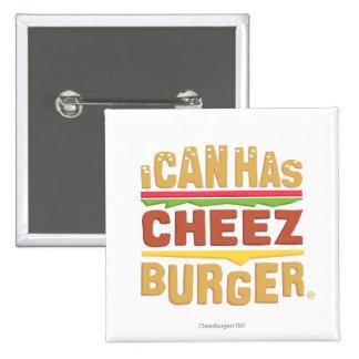I Can Has Cheezburger 15 Cm Square Badge