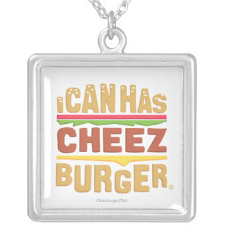 I Can Has Cheezburger Silver Plated Necklace