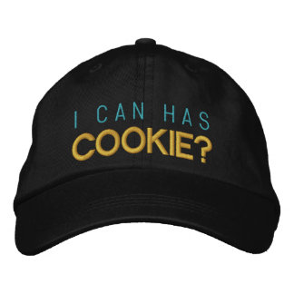 I can has cookie? embroidered hat