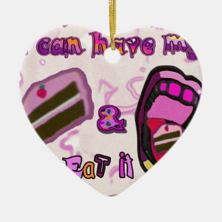 i can have my cake & eat it christmas ornament