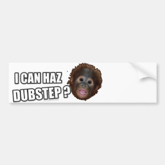 I CAN HAZ DUBSTEP? LOLz Dub Step Meme Bumper Sticker