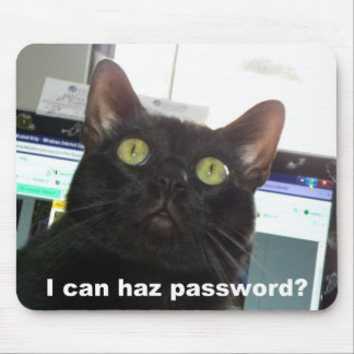 I Can Haz Password Cat Mouse Mat