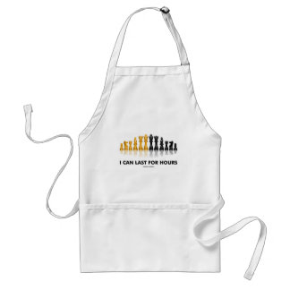 I Can Last For Hours (Chess Humor Chess Set) Apron