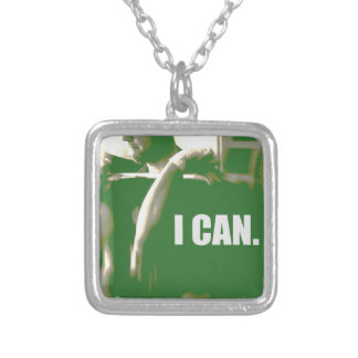 I CAN SQUARE PENDANT NECKLACE