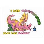I can RAWR, Just Like Mummy cute baby dragon girl
