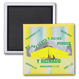 I Can Rise & Reign Square Magnet