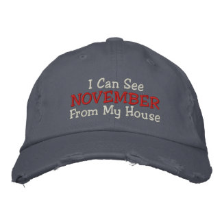 I Can See NOVEMBER From My House Embroidered Baseball Caps