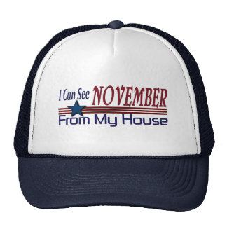 I Can See November From My House Funny Election Cap
