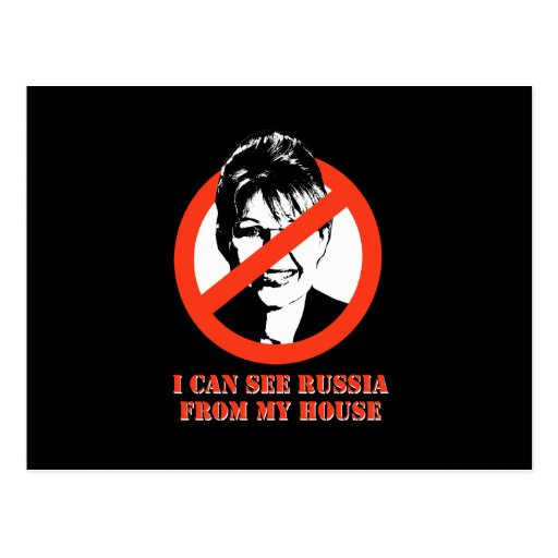 I can see Russia from my house Postcard
