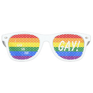 """I CAN SEE THE GAY!"" Party Glasses"