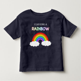 I can sing a rainbow kids t-shirt