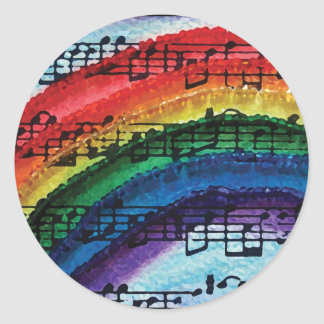I Can Sing A Rainbow Round Sticker