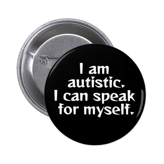 I can speak. 6 cm round badge