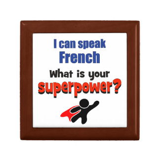 I can speak French. What is your superpower? Gift Box