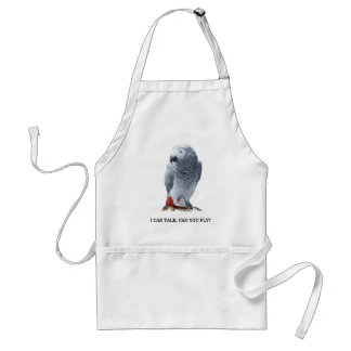 I can talk, can you fly? African Grey Standard Apron