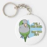 I Can Talk Quaker Parakeet Keychain