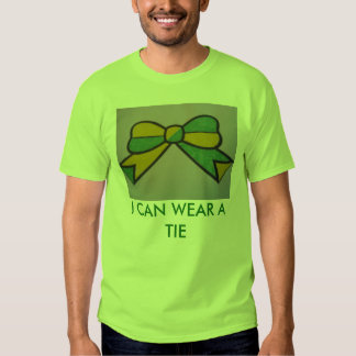 I CAN WEAR A BOW TIE LIME GREEN BASIC T-SHIRT