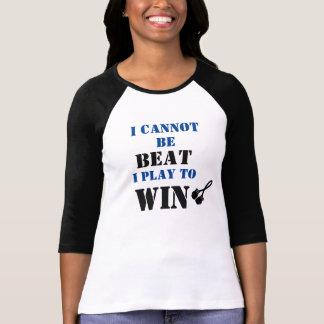 I Cannot Be Beat, Play to Win - Melanoma Cancer Tshirts