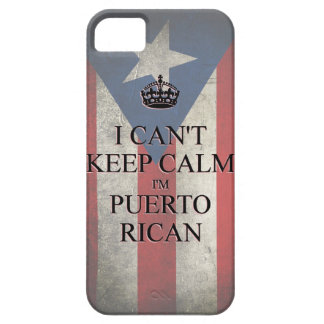 I cannot keep calm i'm puerto rican flag iPhone 5 Case For The iPhone 5