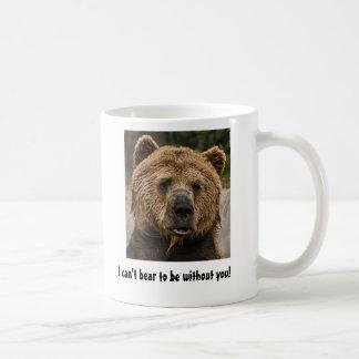 I can't bear to be without you! basic white mug