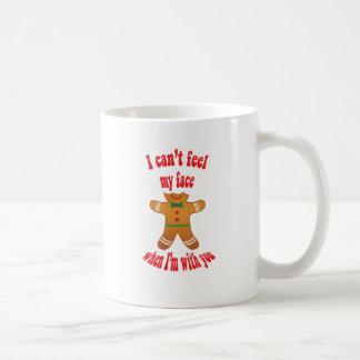 I can't feel my face - funny Christmas gingerbread Basic White Mug